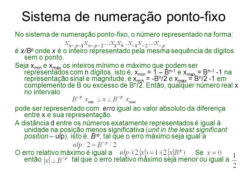 Sistema de numeração ponto-fixo