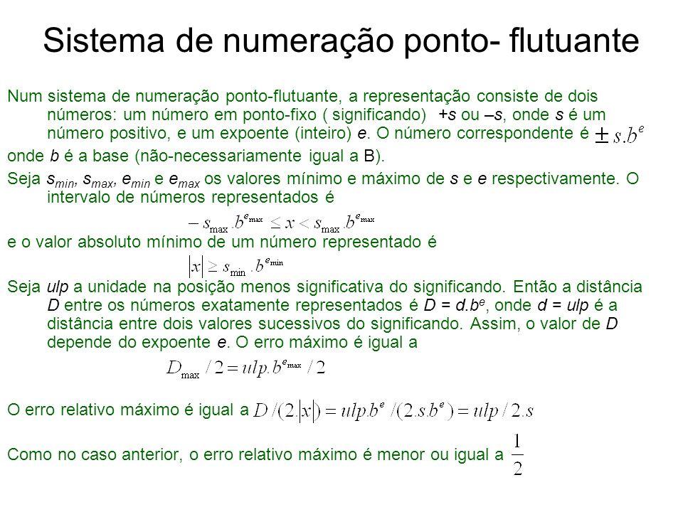 Sistema de numeração ponto- flutuante