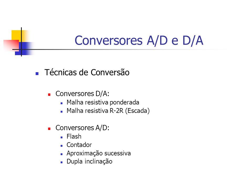 Conversores A/D e D/A Técnicas de Conversão Conversores D/A: