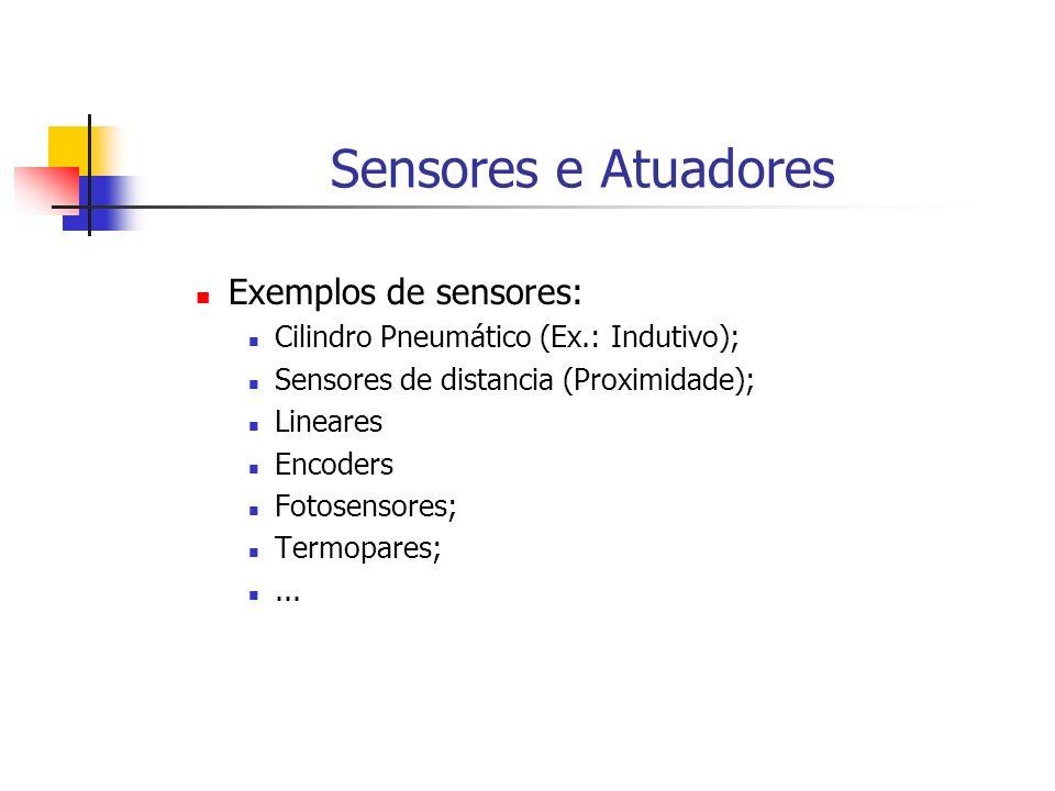 Sensores e Atuadores Exemplos de sensores: