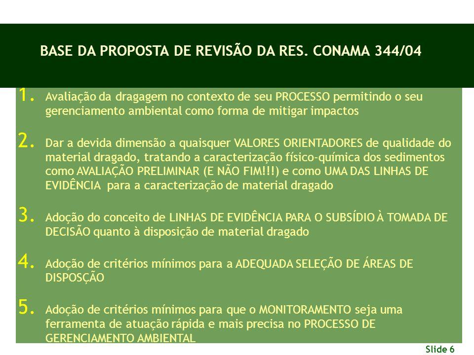 BASE DA PROPOSTA DE REVISÃO DA RES. CONAMA 344/04