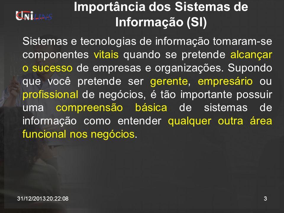 Importância dos Sistemas de Informação (SI)
