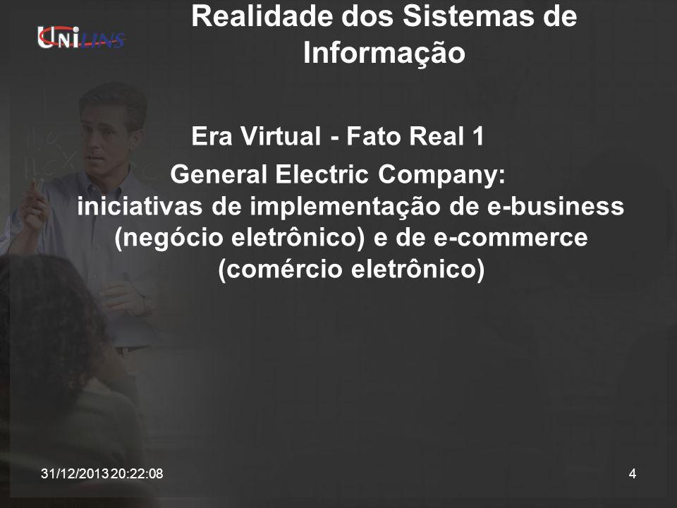 Realidade dos Sistemas de Informação