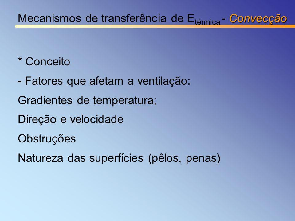 Mecanismos de transferência de Etérmica - Convecção