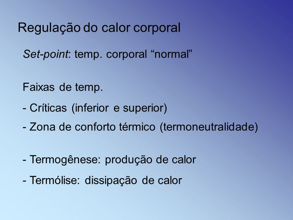Regulação do calor corporal