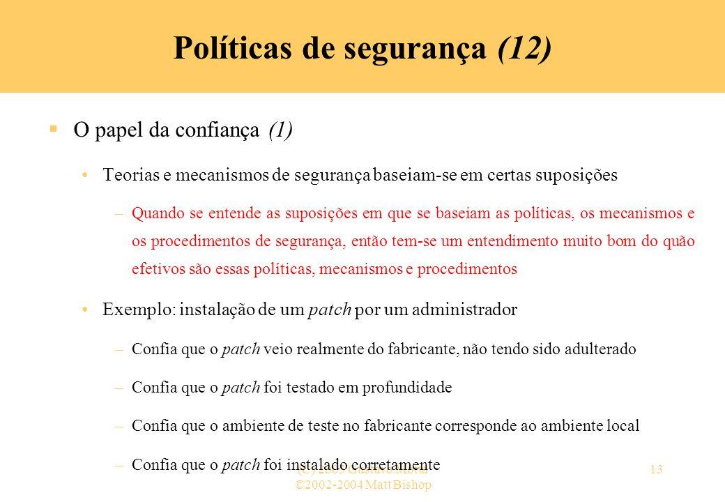 Políticas de segurança (12)