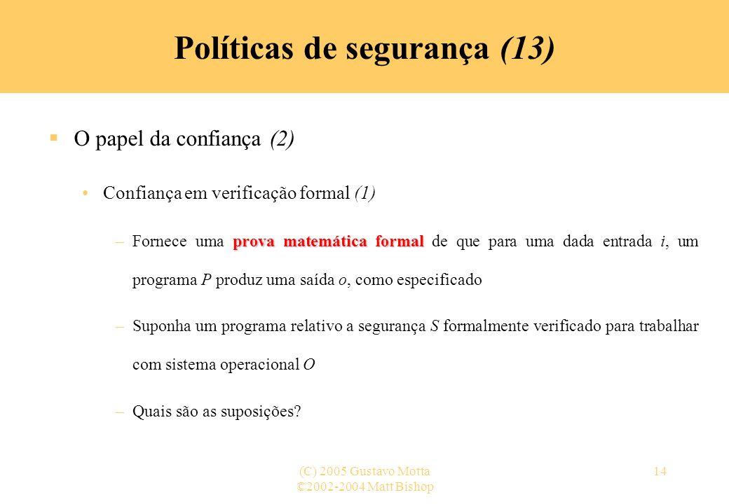 Políticas de segurança (13)
