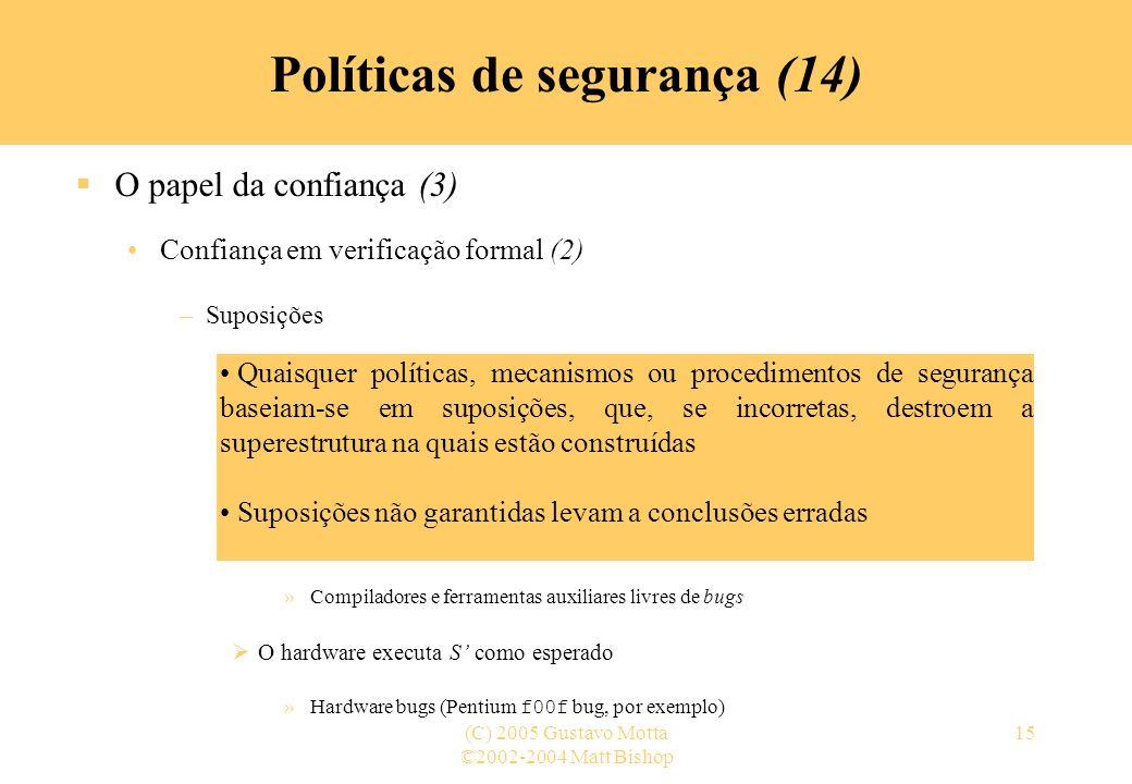 Políticas de segurança (14)