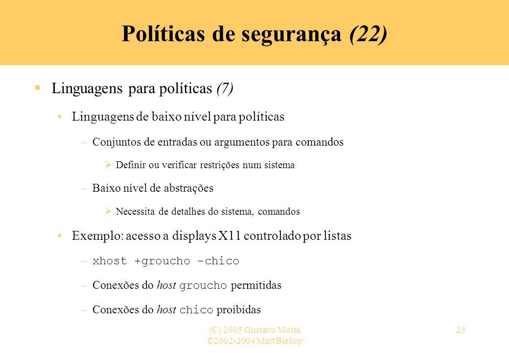 Políticas de segurança (22)