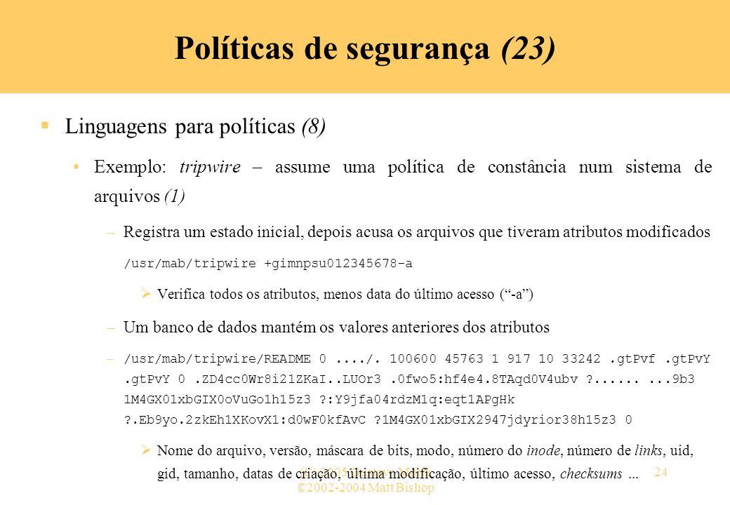 Políticas de segurança (23)