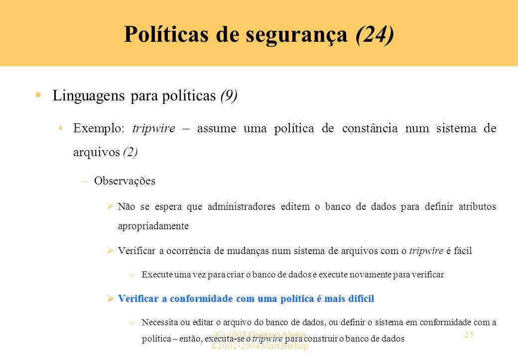 Políticas de segurança (24)