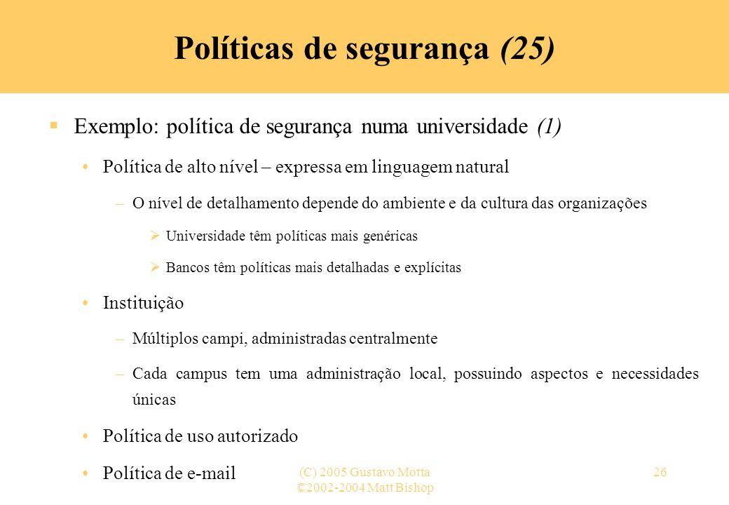 Políticas de segurança (25)
