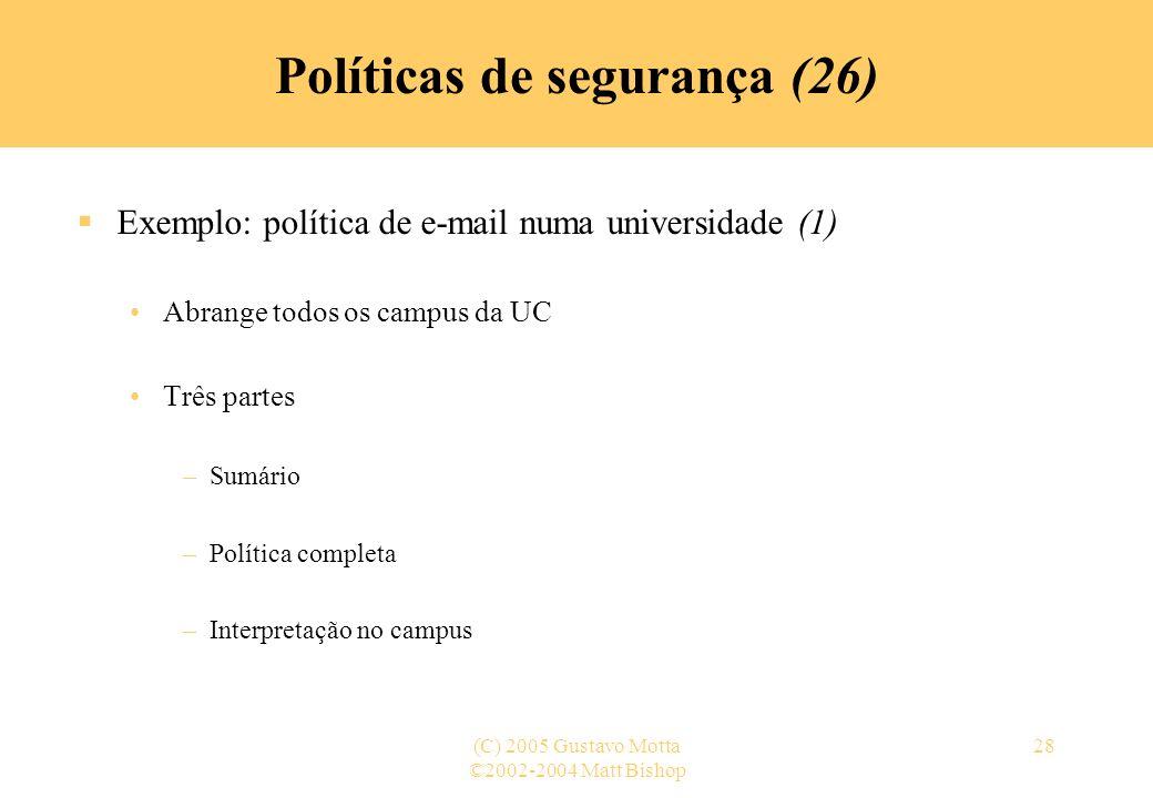 Políticas de segurança (26)