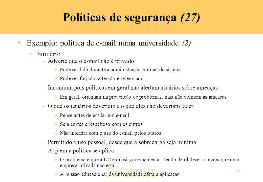 Políticas de segurança (27)