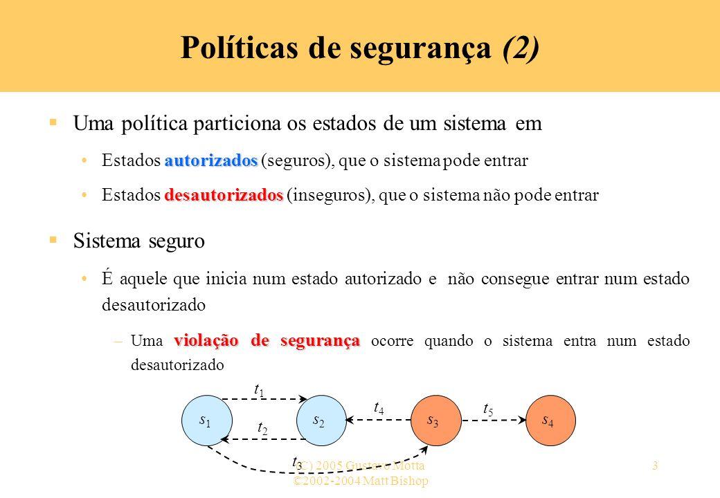 Políticas de segurança (2)