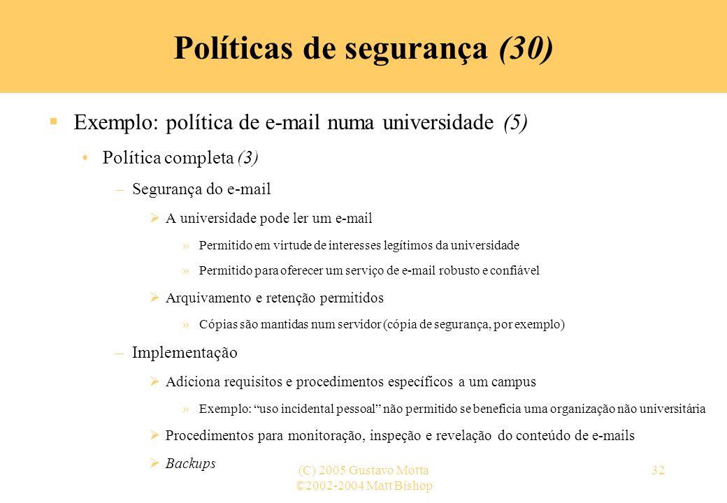 Políticas de segurança (30)