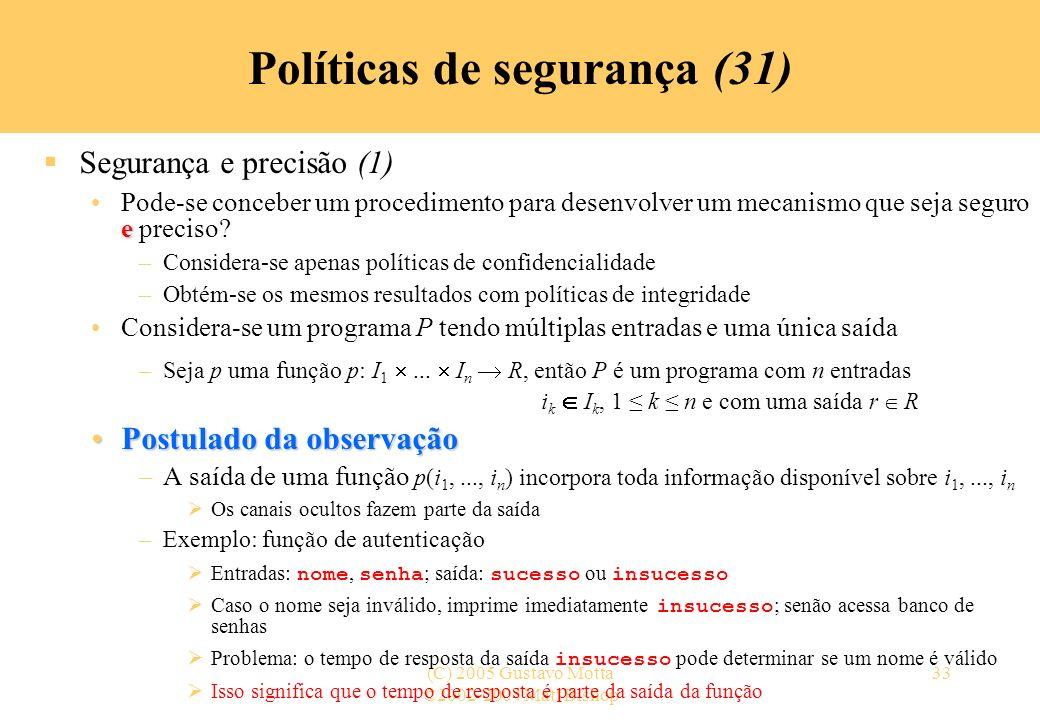 Políticas de segurança (31)