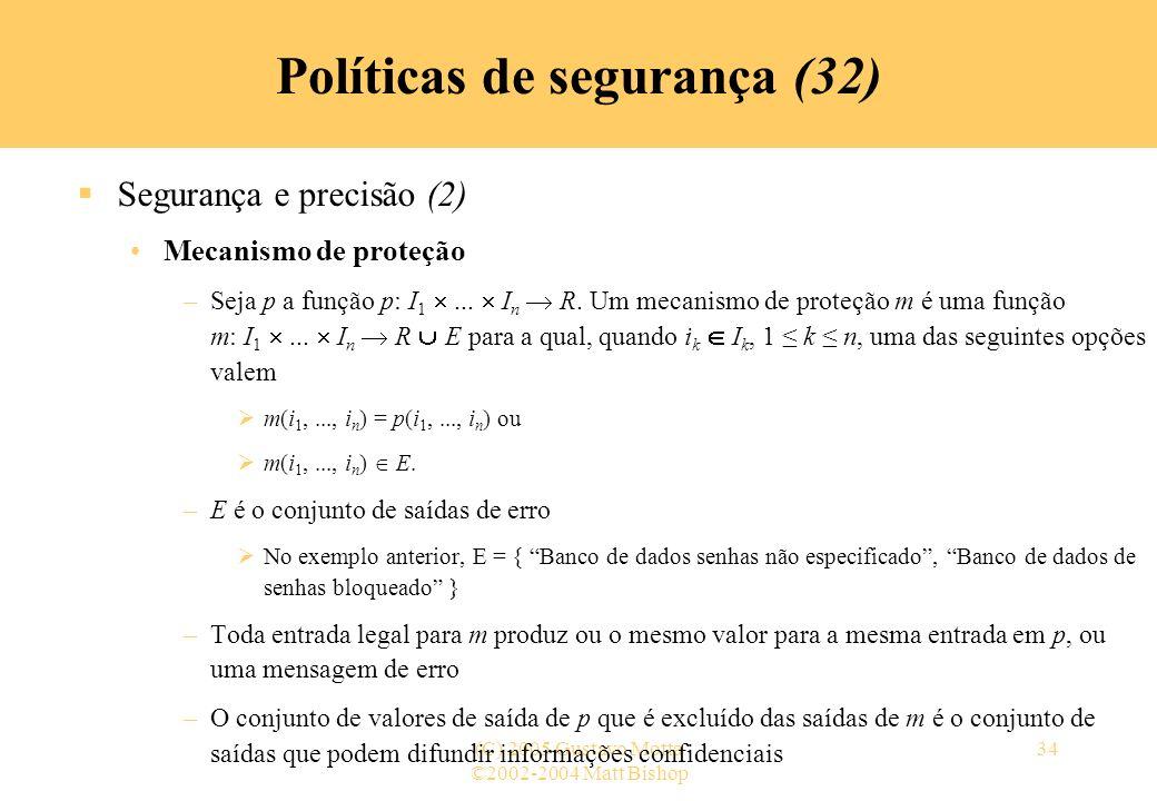 Políticas de segurança (32)