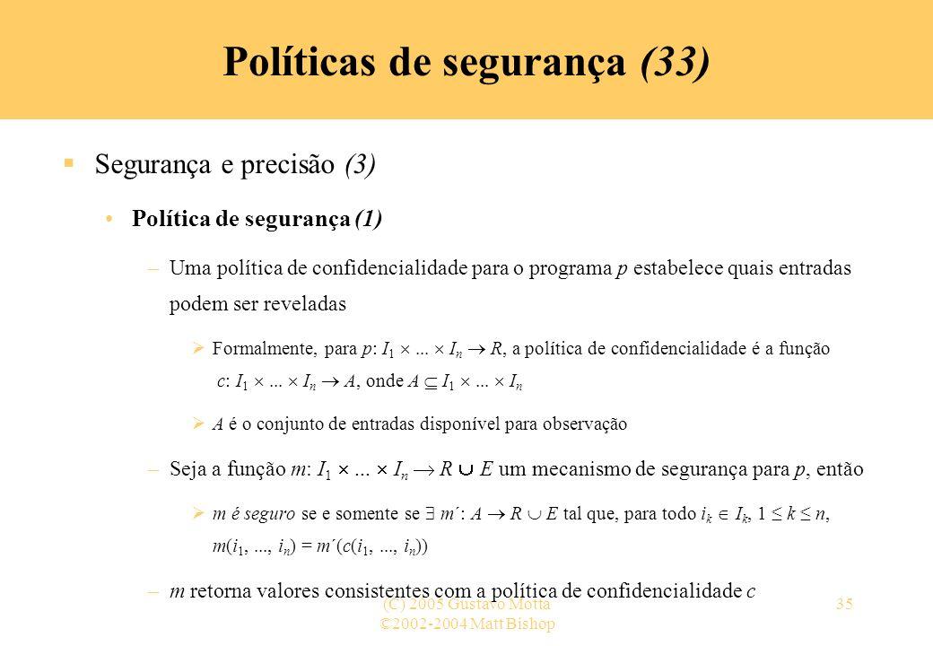 Políticas de segurança (33)