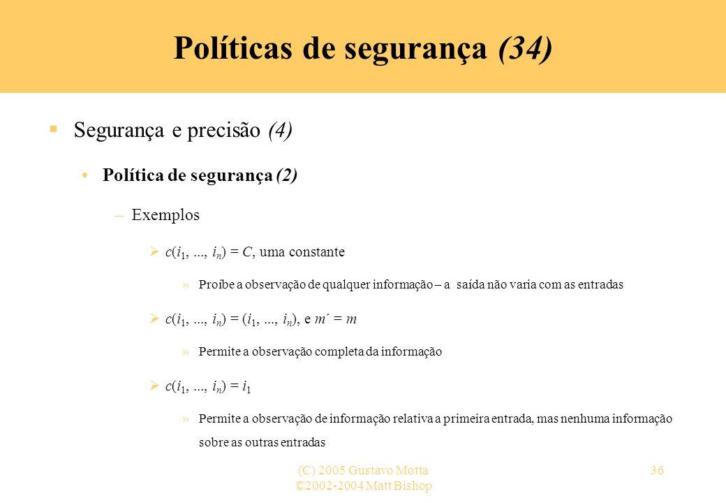 Políticas de segurança (34)