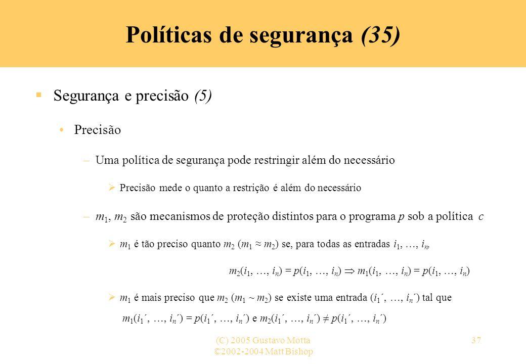 Políticas de segurança (35)