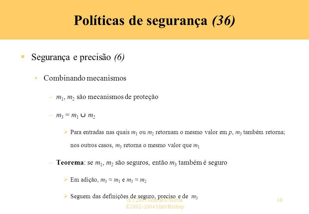 Políticas de segurança (36)