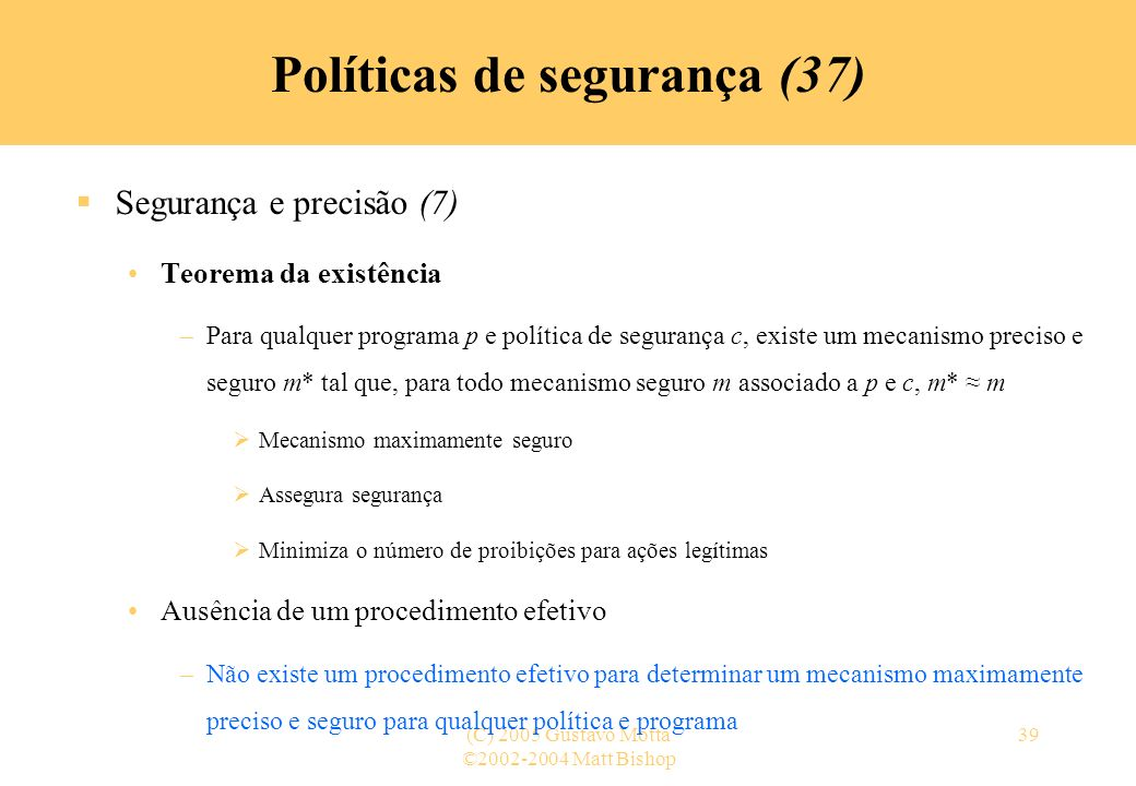Políticas de segurança (37)