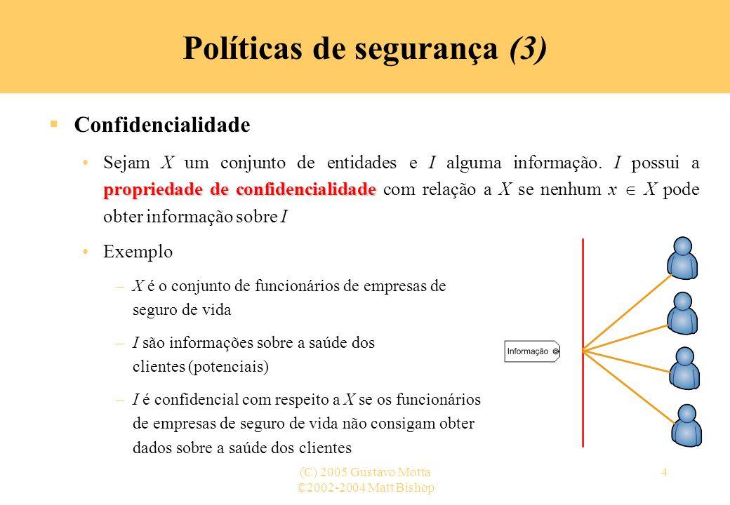 Políticas de segurança (3)