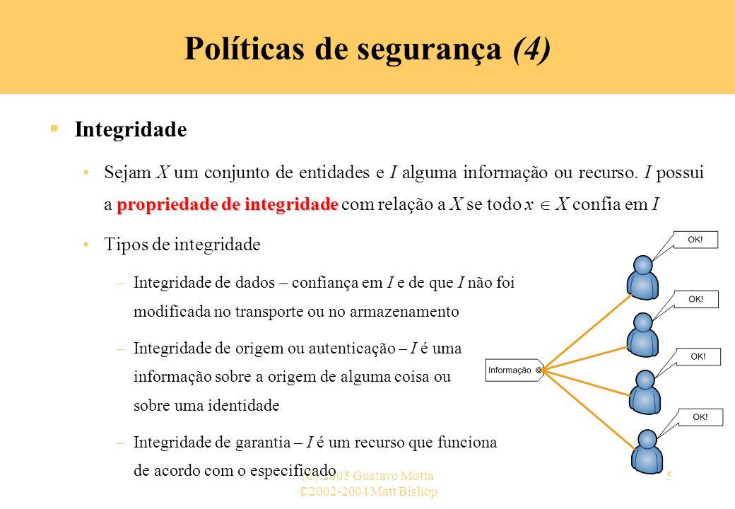 Políticas de segurança (4)