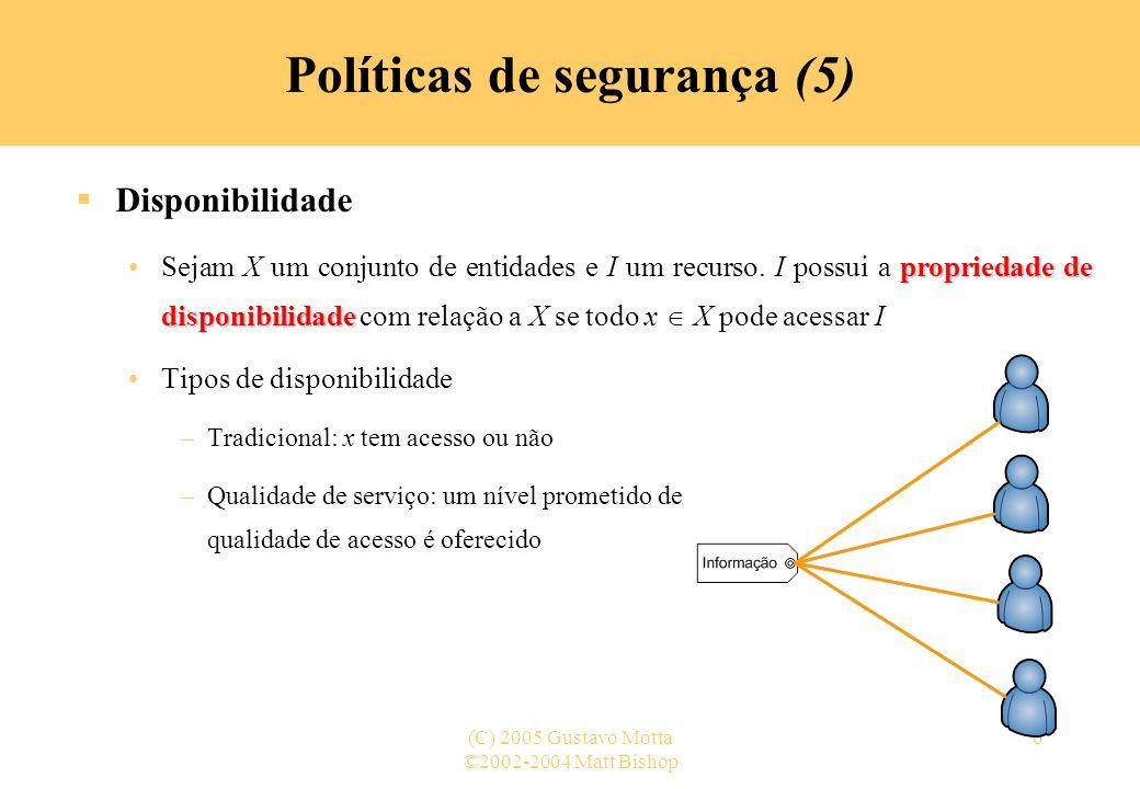Políticas de segurança (5)