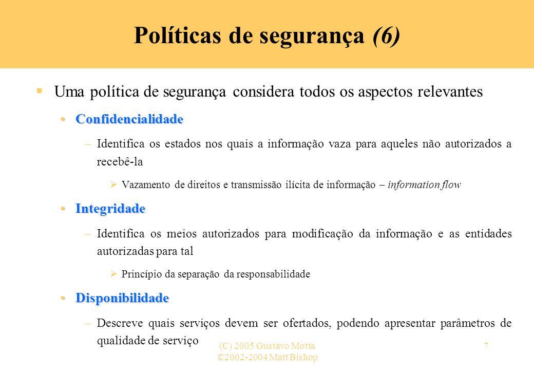 Políticas de segurança (6)