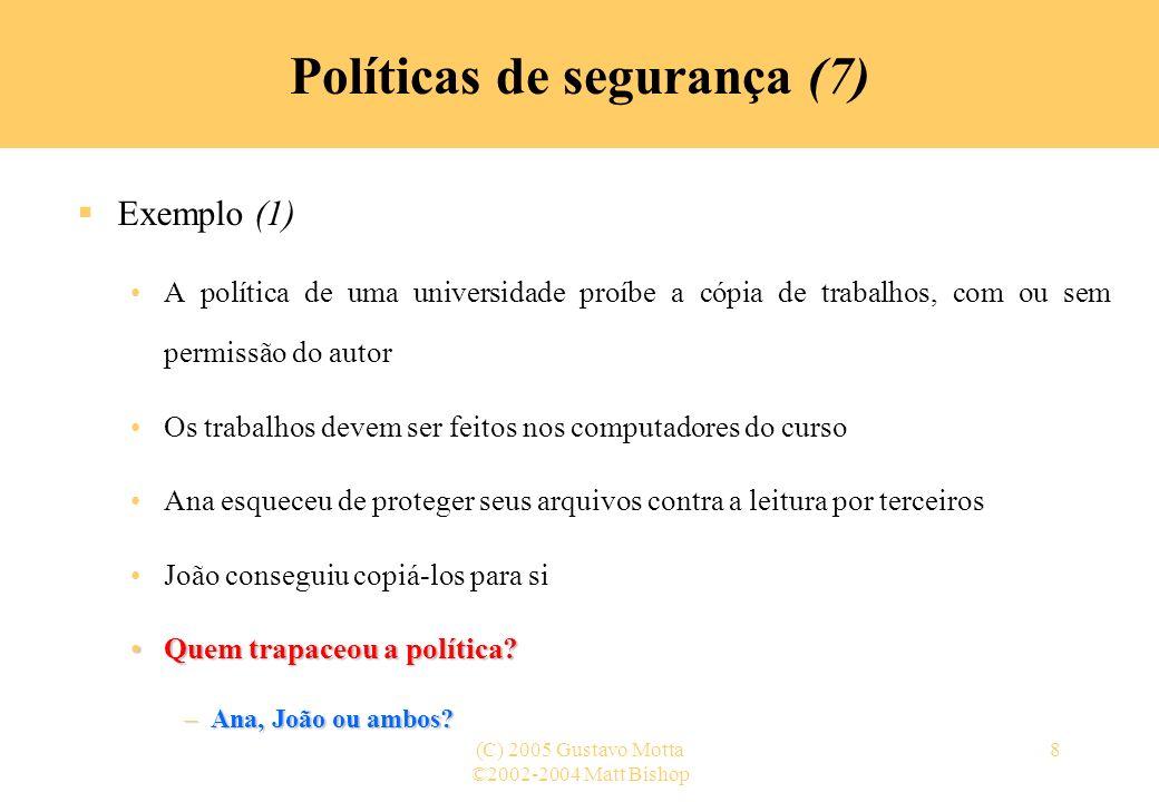 Políticas de segurança (7)