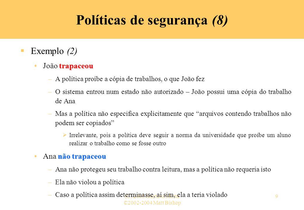 Políticas de segurança (8)