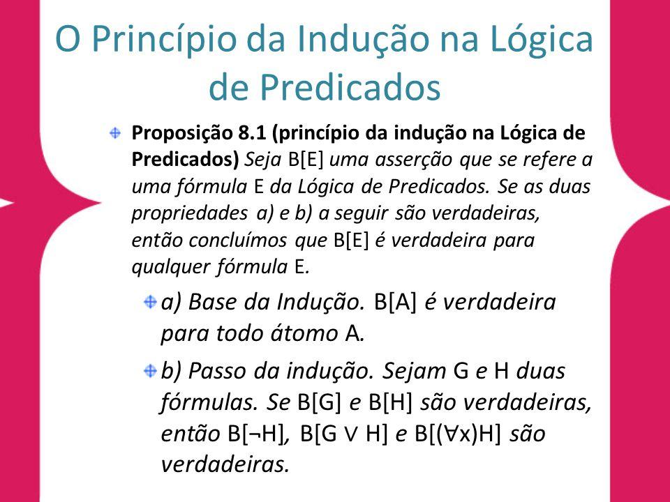 O Princípio da Indução na Lógica de Predicados