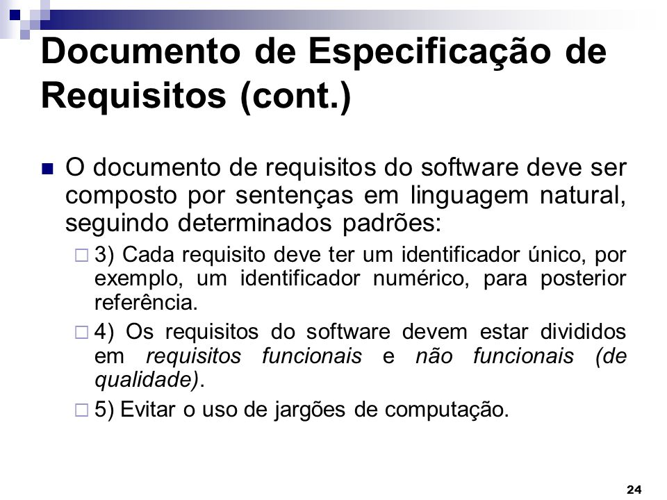 Documento de Especificação de Requisitos (cont.)