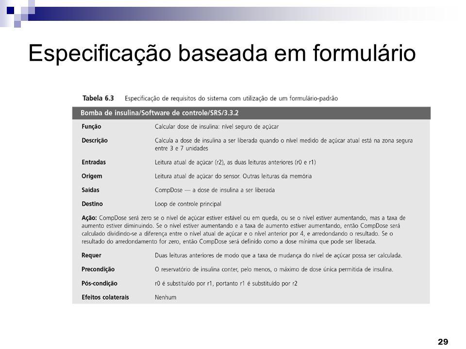 Especificação baseada em formulário