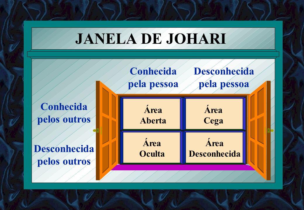 JANELA DE JOHARI pela pessoa Conhecida pelos outros Desconhecida Área