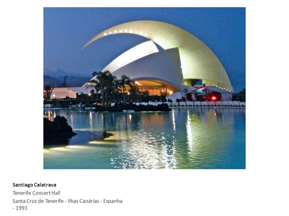 Santiago Calatrava Tenerife Concert Hall Santa Cruz de Tenerife - Ilhas Canárias - Espanha - 1991