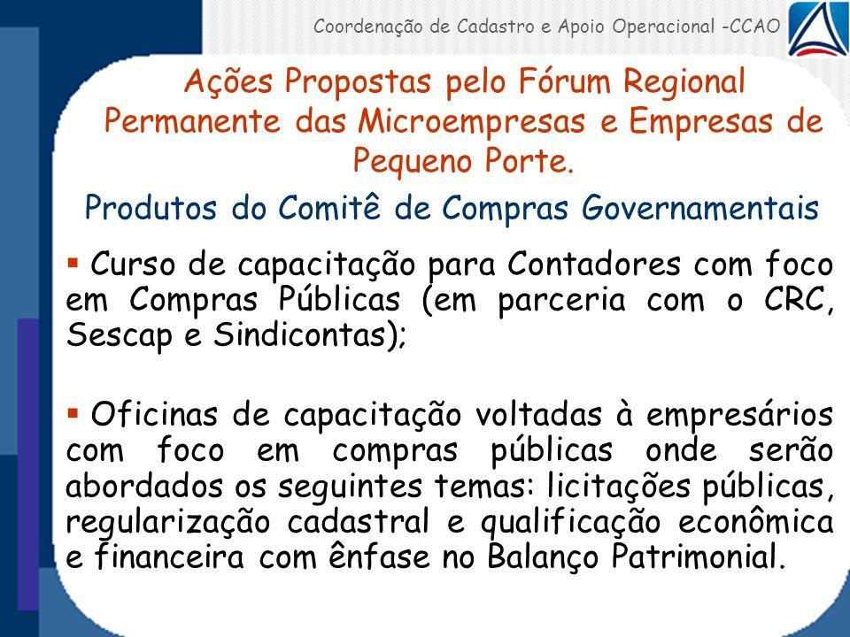Produtos do Comitê de Compras Governamentais