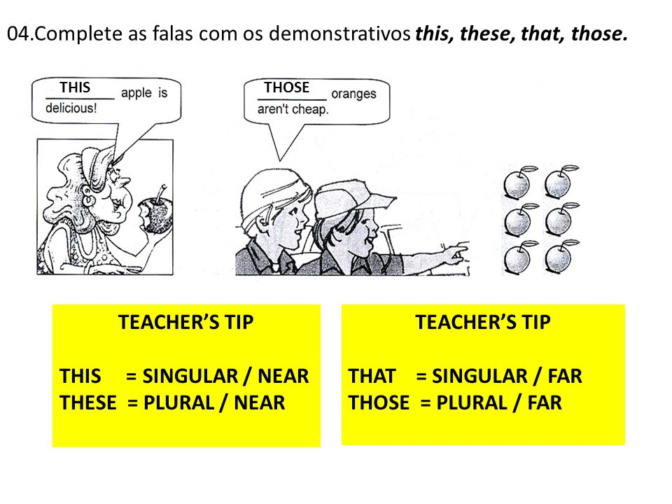 TEACHER'S TIP TEACHER'S TIP
