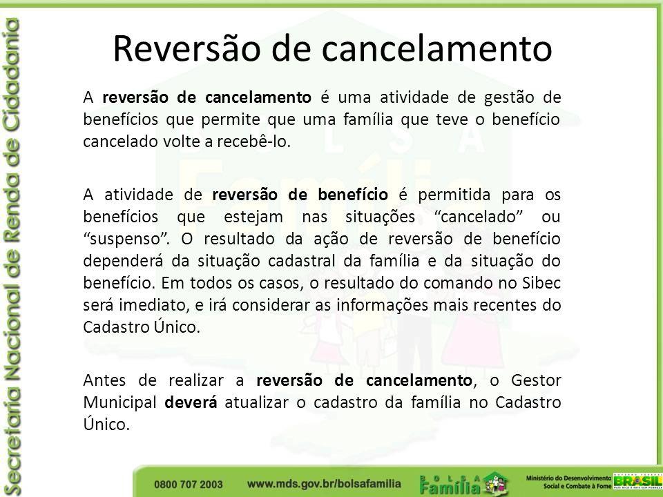 Reversão de cancelamento