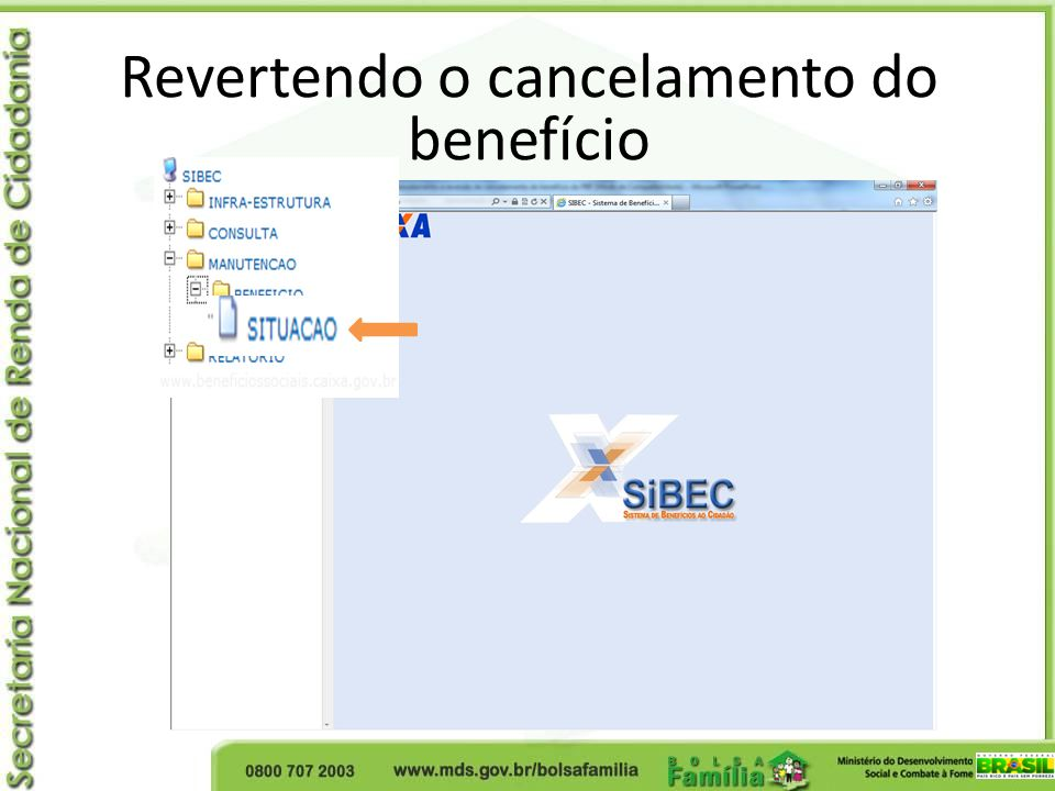 Revertendo o cancelamento do
