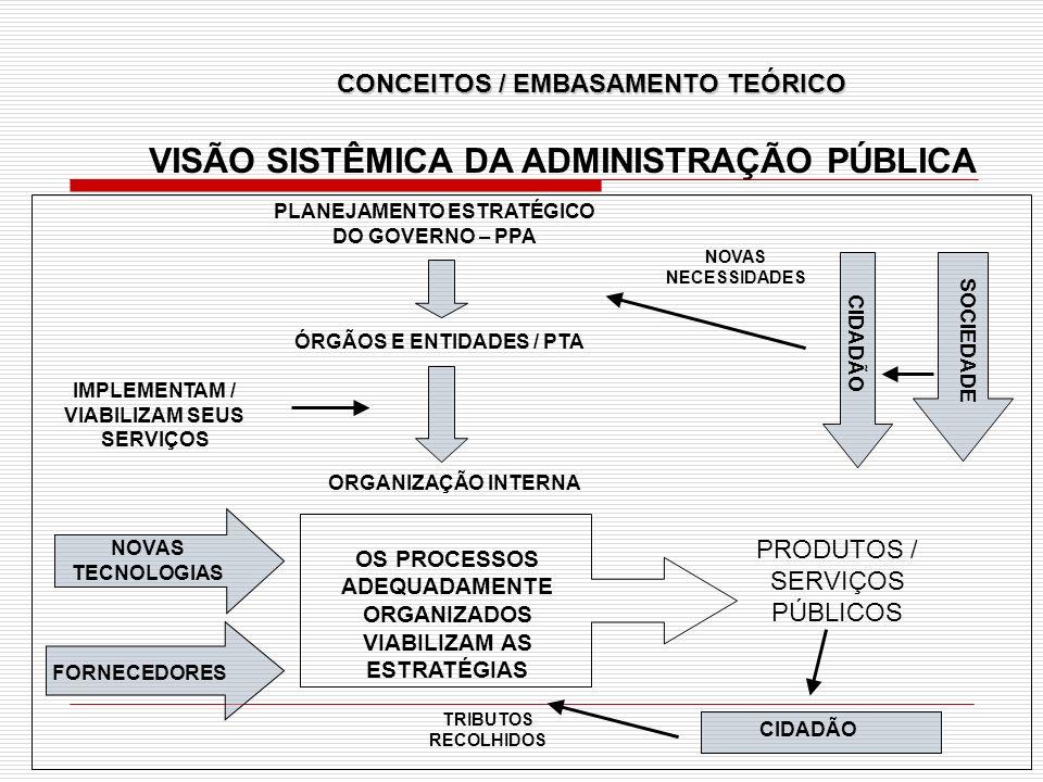 VISÃO SISTÊMICA DA ADMINISTRAÇÃO PÚBLICA