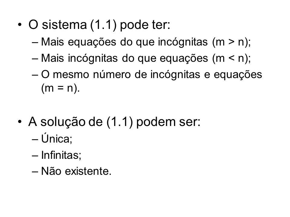 A solução de (1.1) podem ser:
