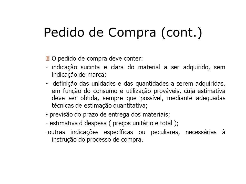 Pedido de Compra (cont.)