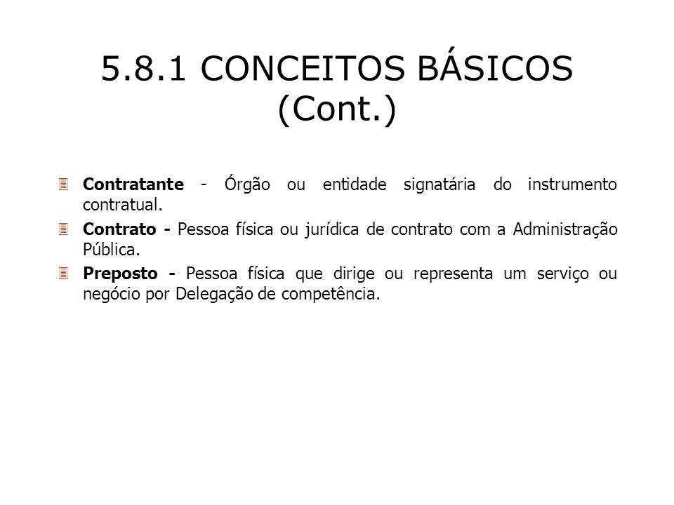 5.8.1 CONCEITOS BÁSICOS (Cont.)
