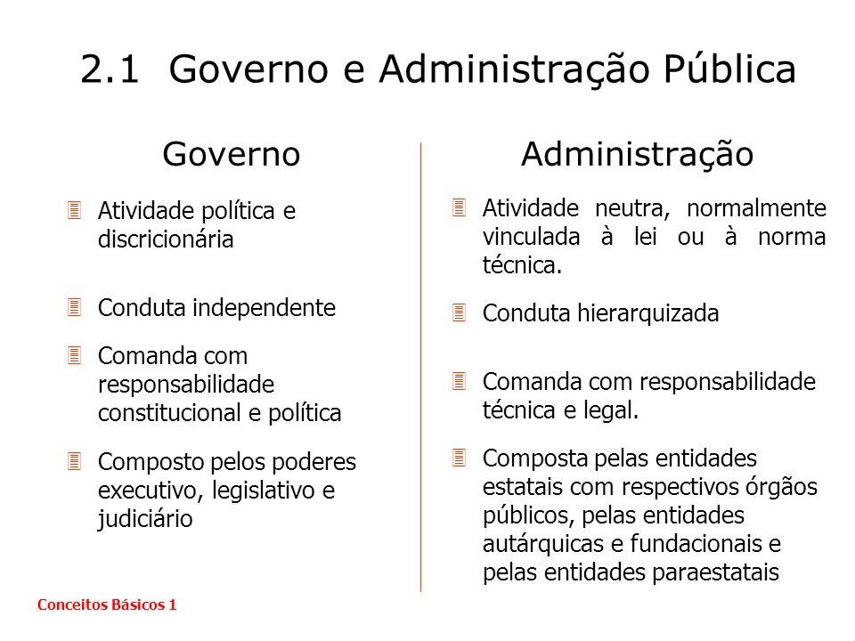 2.1 Governo e Administração Pública