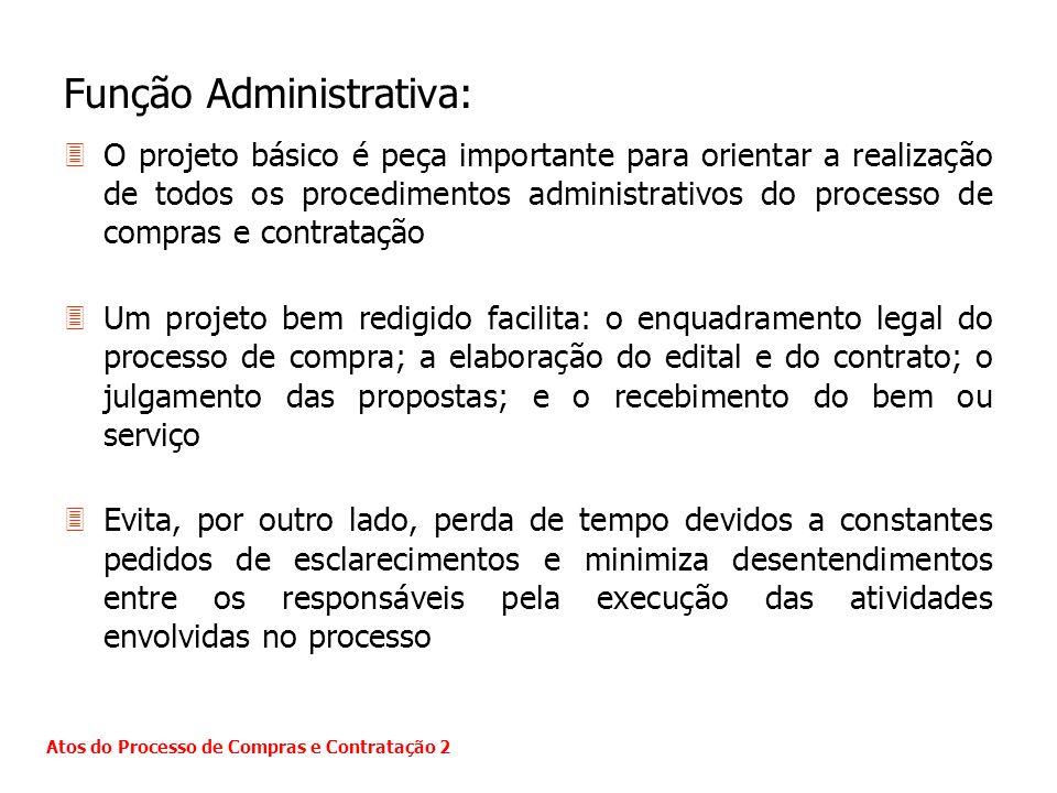 Função Administrativa: