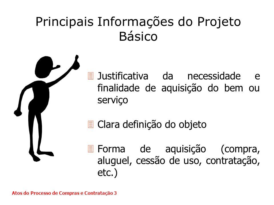 Principais Informações do Projeto Básico