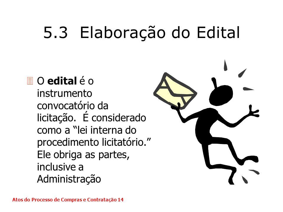 5.3 Elaboração do Edital